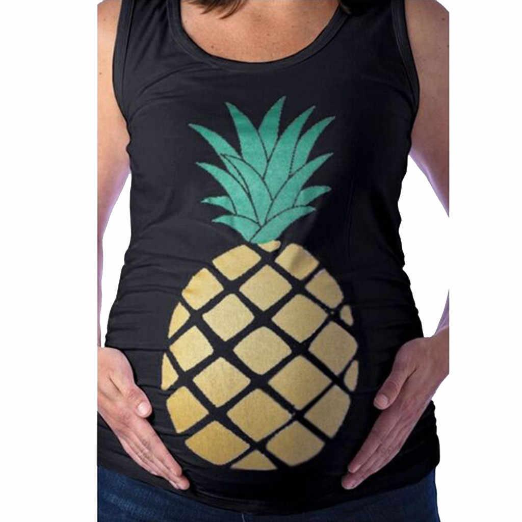 Топ для кормления Для женщин летнее платье без рукавов с принтом Повседневная футболка для детей футболка для кормления грудью, подходит для беременных для маленьких мальчиков, раздел-одежда для детей; Embarazada 19Apr10