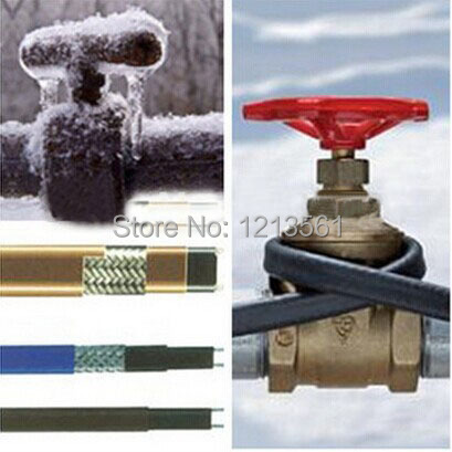 Нагревательный кабель 230 V 12 MM 25 Вт/м 65 C с экранным экраном и можно использовать в внутренней водопроводной трубе и канализации