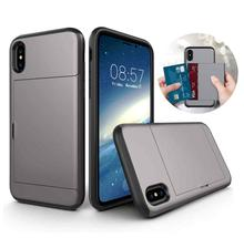 For iPhone XS Max X XS XR Luxury Hybrid Tough Slide Wallet Card Storage Armor Case For iPhone 5 5s SE 6 6S 7 8 Plus Wallet Coque sgp tough armor series air cushion case for iphone se 5s 5 black white