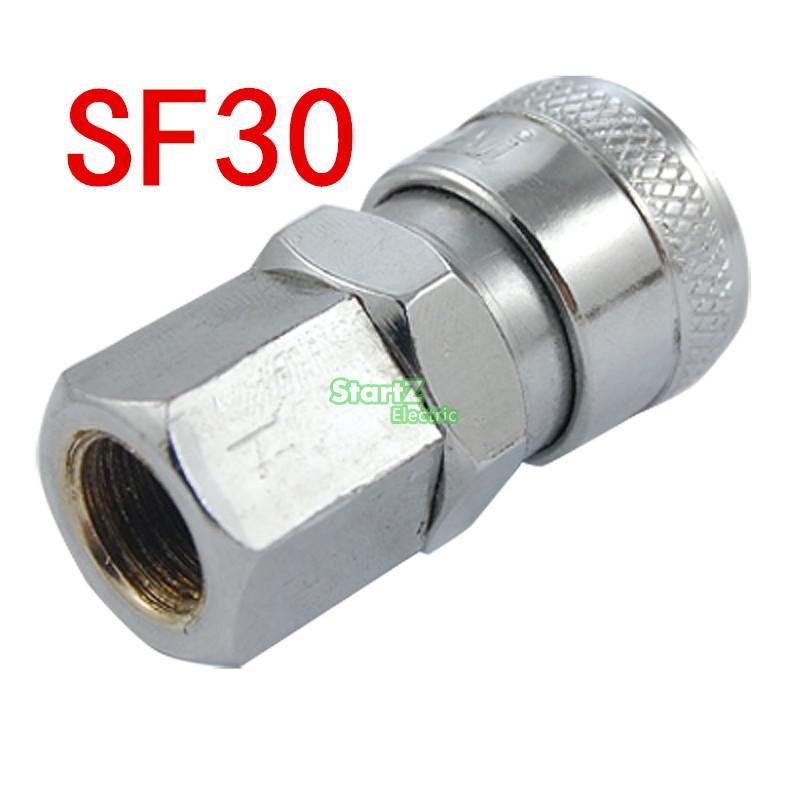 SF30  3/8''PT Pneumatic Air Compressor Hose Quick Coupler Plug Socket Connector