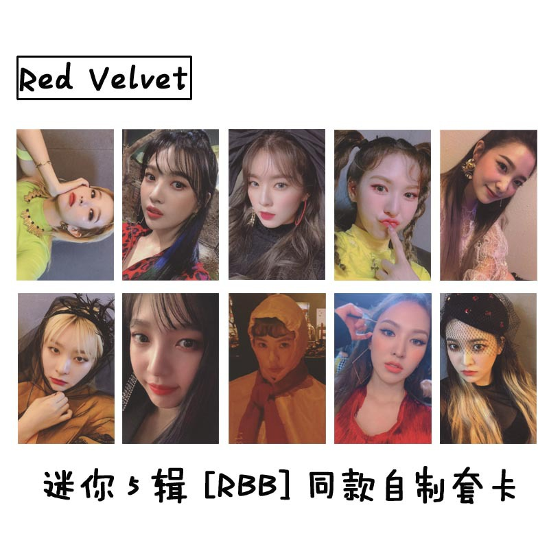 New 10Pcs/Set KPOP Red Velvet Photo Card Album Paper Cards Self Made LOMO Card Photocard