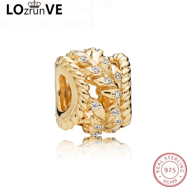 LOZRUNVE 2018 original jewelry 925 sterling silver DIY pendant cereals elegant bracelet charm women factory wholesale