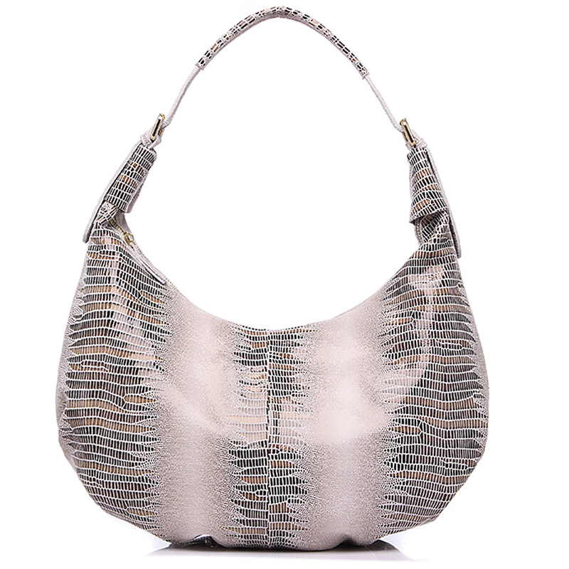 ФОТО New Design Genuine Leather Bag Women Fashion Animal Pattern Hobo Handbag High Quality Luxury Ladies Totes Shoulder Bags