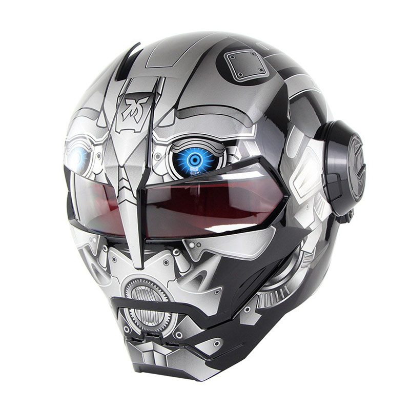 цена NEW IRONMAN Iron Man helmet motorcycle helmet retro half helmet open face helmet ABS casque motocross