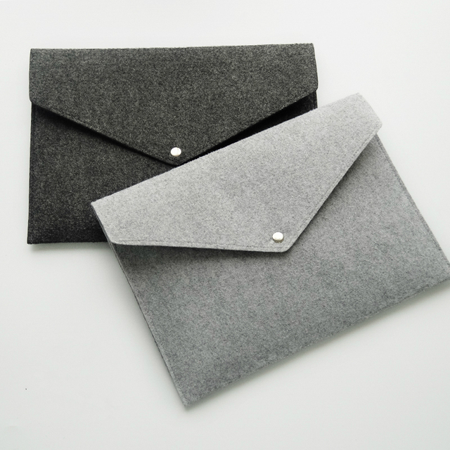 Simple Wool Buckle A Paper File Bag Office Briefcase Bag Portfolio - Porte document bureau