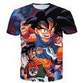 Goku Garoto bonito/Gohan/Bulma Imprime camisetas Clássico Anime Dragon Ball Z Super Saiyan t camisas Das Mulheres Dos Homens verão Harajuku camisetas