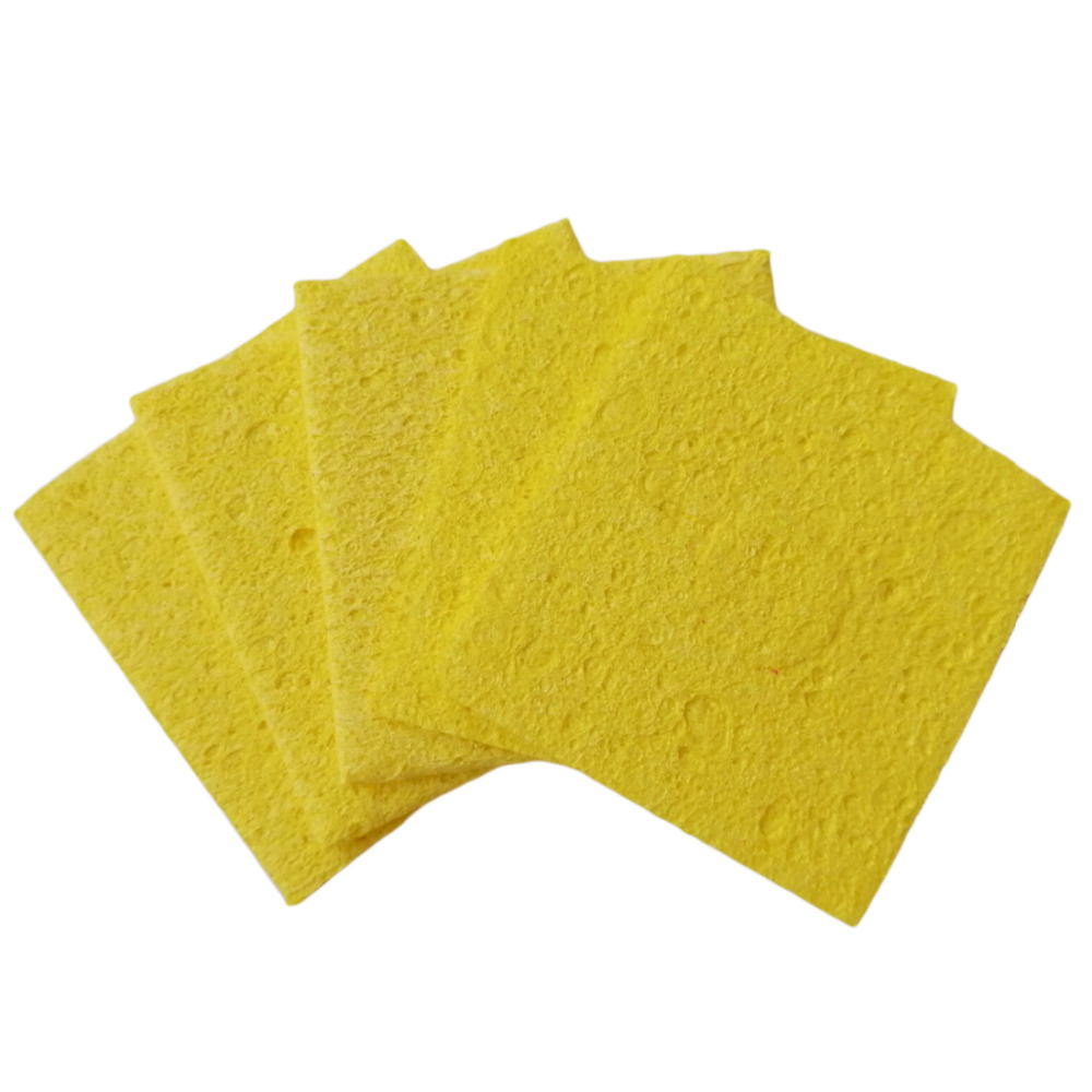 Soldering Iron Solder Tip Welding Cleaning Sponge Pads High Temperature Enduring 5pc 6cm*6cm Color Random