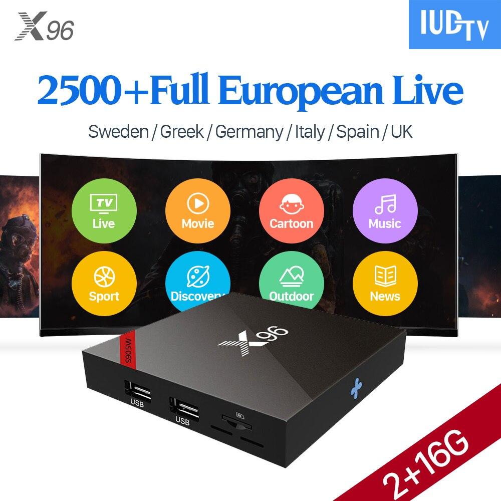 Здесь продается  Europe IPTV Box 1 Year IUDTV Code Subscription Sweden Spanish Italia Arabic France Channels X96W Android 7.1 Smart IP TV Top Box  Бытовая электроника