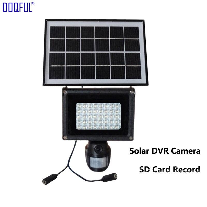 Nouveau 960 P solaire DVR caméra de sécurité 8 GB SD carte enregistrement lampe solaire 40 pièces éclairage LED PIR mouvement détecter vidéo CCTV sécurité