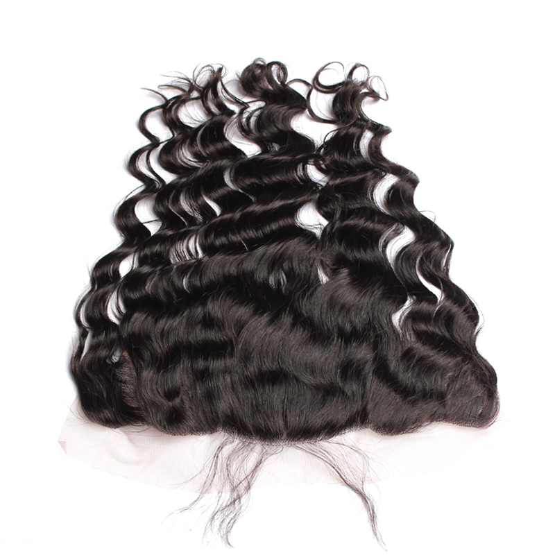 Loose Deep Wave 13x6 Lace Frontal Closure Ear To Ear Pre Plucked With Baby Hair Human Remy Hair Rosa Queen