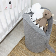 все цены на Toy organizer kids felt laundry basket Felt fabric baby storage basket for toys basket shark онлайн