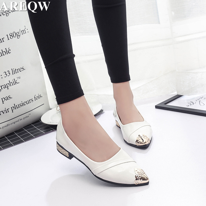 2017 new women's shoes pure color Korean version of the flat shoes with shallow mouth pointed shoes patent leather flat shoes fundamentals of physics extended 9th edition international student version with wileyplus set