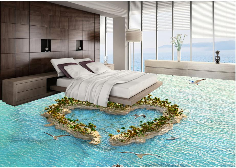 Buy cheap 3d flooring kitchen custom 3d stereoscopic for 3d waterproof wallpaper