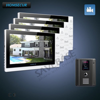 HOMSECUR TFT LCD 9 Video Door Entry Phone Call System With Dual Way Intercom Between Monitor