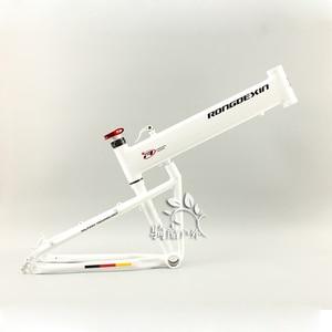 Image 3 - BMX folding frame 26/27.5/29 inch folding mountain bike frame portable Hummer folding frame