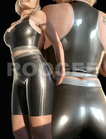 Latex Suits Clothings For Women top&shorts