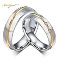 Meaeguet Мода Мужчины Женщины Обручальные Кольца Оптовая AAA CZ Каменные Кольца Для Женщин И Мужчин Из Нержавеющей Стали Перстни