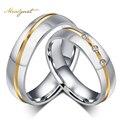 Meaeguet moda homens mulheres anéis de casamento por atacado aaa pedra cz anéis para mulheres e homens de aço inoxidável anéis de dedo