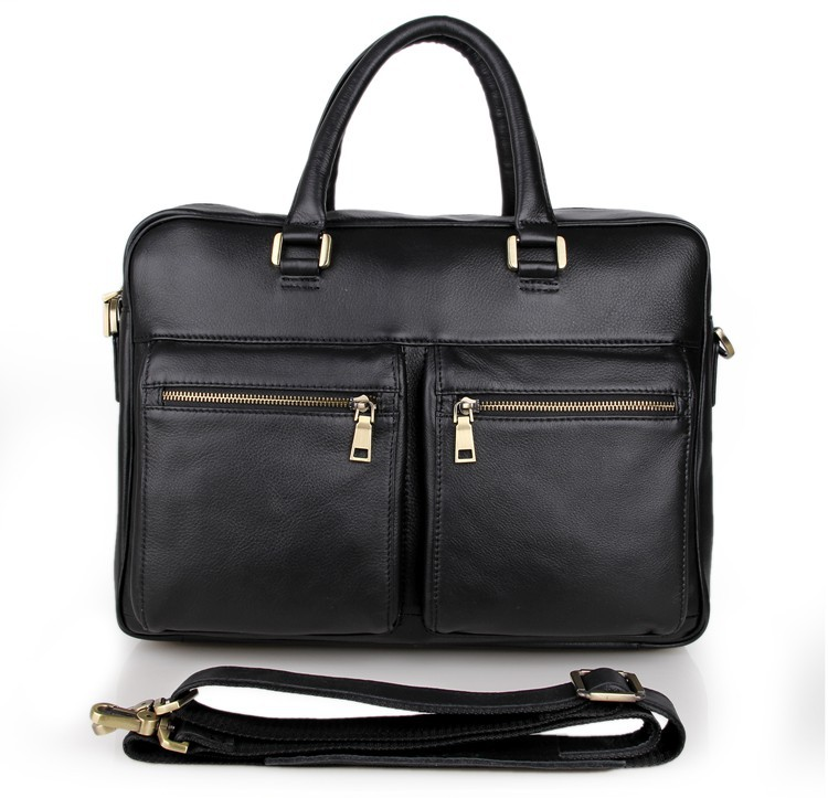 JMD 100% Guarantee Genuine Cow Leather Men's Briefcase Handbag Mens Business Messenger Bag 7270A guarantee genuine leather vintage style briefcase jmd business laptop bag 7085c 1