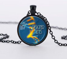 1PC  blue pendant charms Globe round dome glass  necklaces classic style science jewelry gift CN572