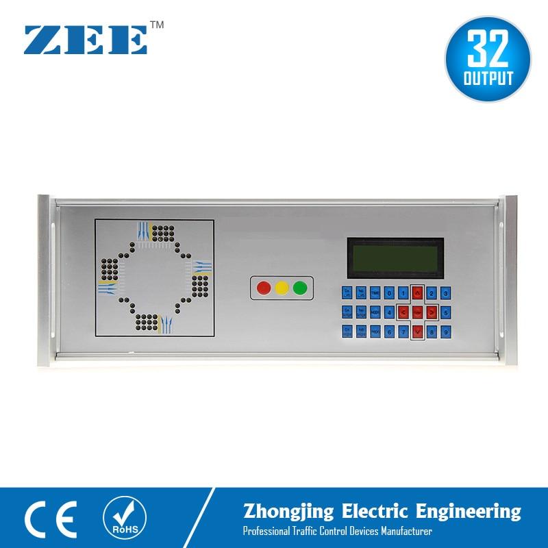 32 Outputs 12V 24V Solar Powered Traffic Controller 230V Electricity Traffic Signal Controller LED Traffic Light