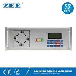 32 salidas 12V 24V controlador de tráfico con energía Solar 230V controlador de señal de tráfico de electricidad LED semáforo