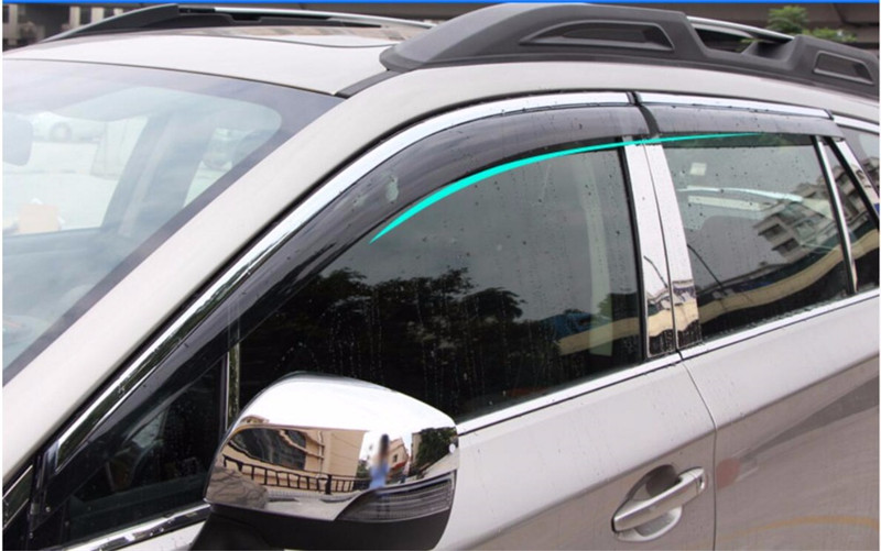 Fit for Subaru Outback 2010 2011 2012 2013 2014 car-styling plastic Window glass Wind Visor Rain/Sun Guard Vent 4pcs цены