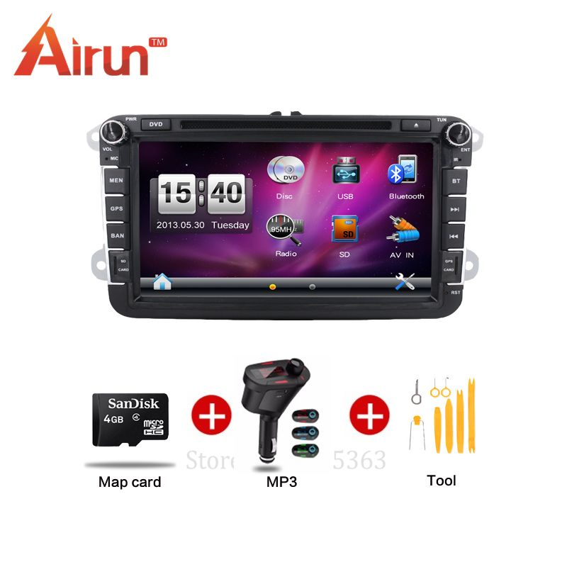 double din 8inch car dvd radio for volkswagen vw skoda. Black Bedroom Furniture Sets. Home Design Ideas