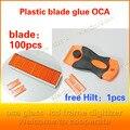 Новый оса клей чистящий нож пластиковый нож лезвие ремонт ЖК-экран поляризованный для iPhone5 6 s
