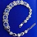 Jóias bowknot pulseiras tanzanite Colife real stamped 925 prata pulseiras para mulher 6 pcs genuine tanzanite engagement presente
