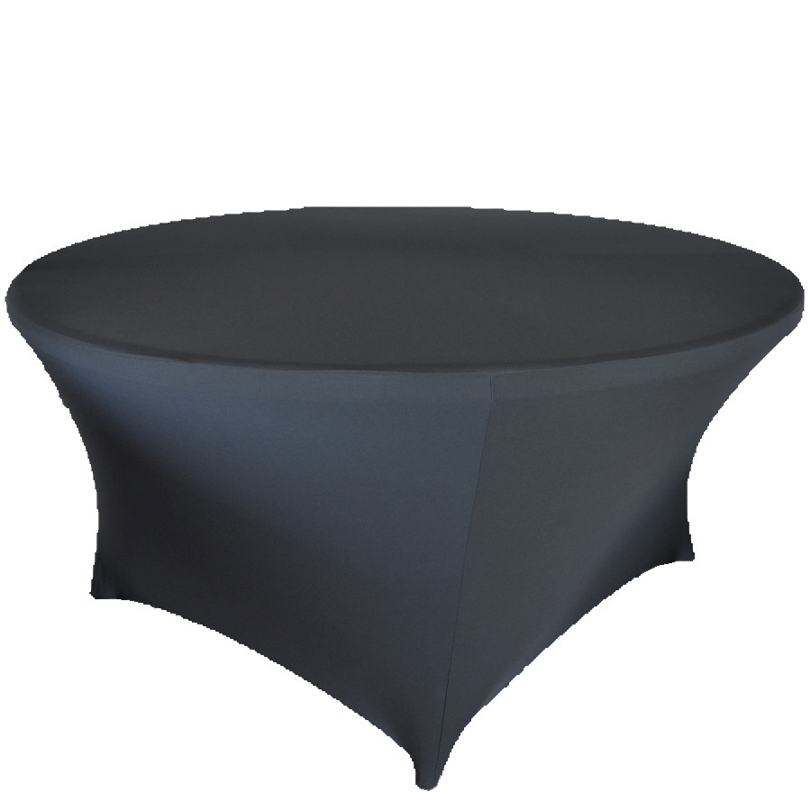 Free shipping 10pcs black 6ft round lycra stretch spandex for 10 foot round table