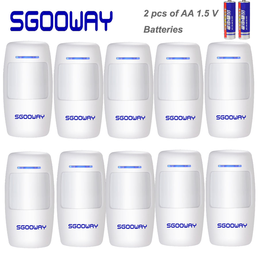 Sgooway Wireless Infrared PIR Sensor Wireless Motion Detector 10 Pieces Free Shipping 433 MHZ