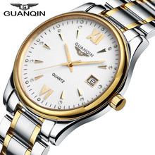 Fashion GUANQIN Mens Watches Business Full Steel Watch Luxury Brand Sport Waterproof Stylish Casual Clock Man