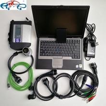 Готов к использованию MB Star C4 SD C4 с программным обеспечением V12. в 360 ГБ SSD установлен хорошо на Подержанный ноутбук D630 для автоматической диагностики звезды