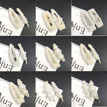 F001 Luxury Hairpins Korea Pearl Imitation Beads Hair Clip Barrette Stick Hairpin For Women Hair Styling Accessories Handmade(China)