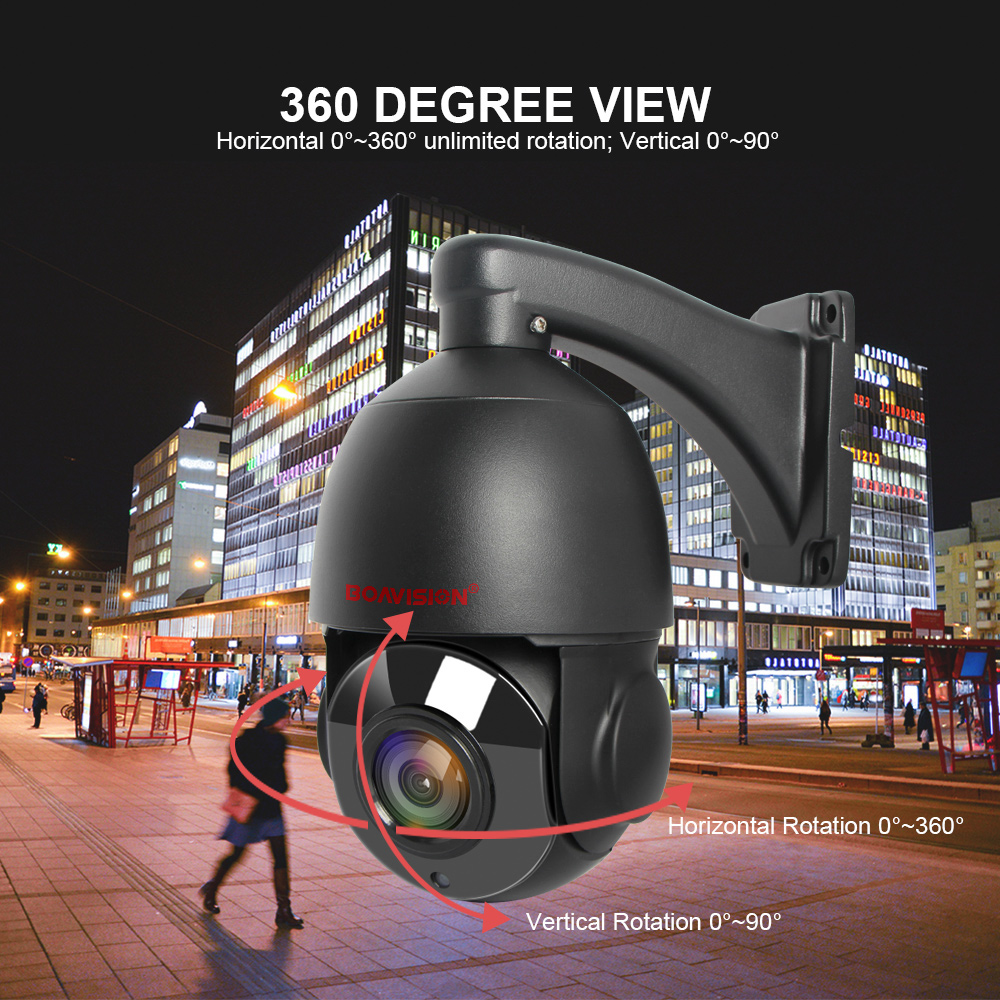 Mini PTZ IP Camera Outdoor 2MP 1080P Speed Dome PTZ Camera 30X Zoom Waterproof IP66 4MP 5MP Security Camera IR 50M IOS Android-in Surveillance Cameras from Security & Protection    2