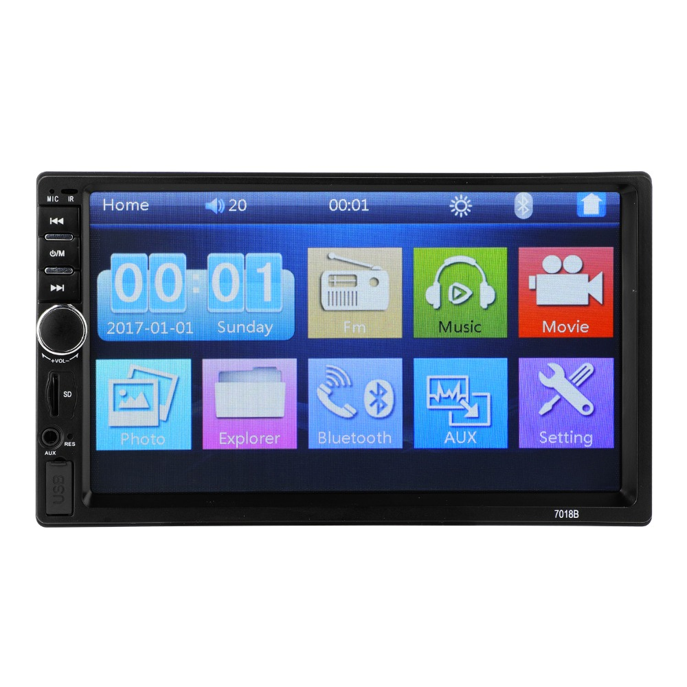 7018B lien miroir Android 8.0 2 din autoradio autoradio 7 pouces lecteur multimédia Bluetooth mains libres FM vue Arrière autoradio