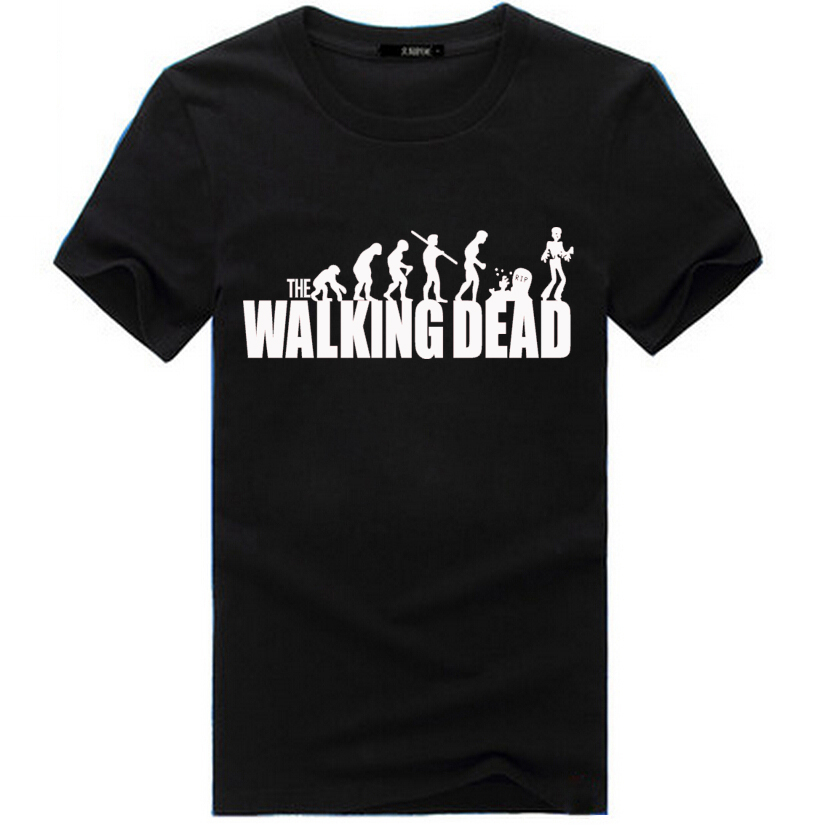 The walking dead t shirt for men 3 types free shipping for Types of shirts for men