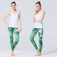 Agleroc Yoga New Pattern Printing Woman Gym Run Sports Pants Speed Do Tight Trousers Elastic Force Yoga Trousers
