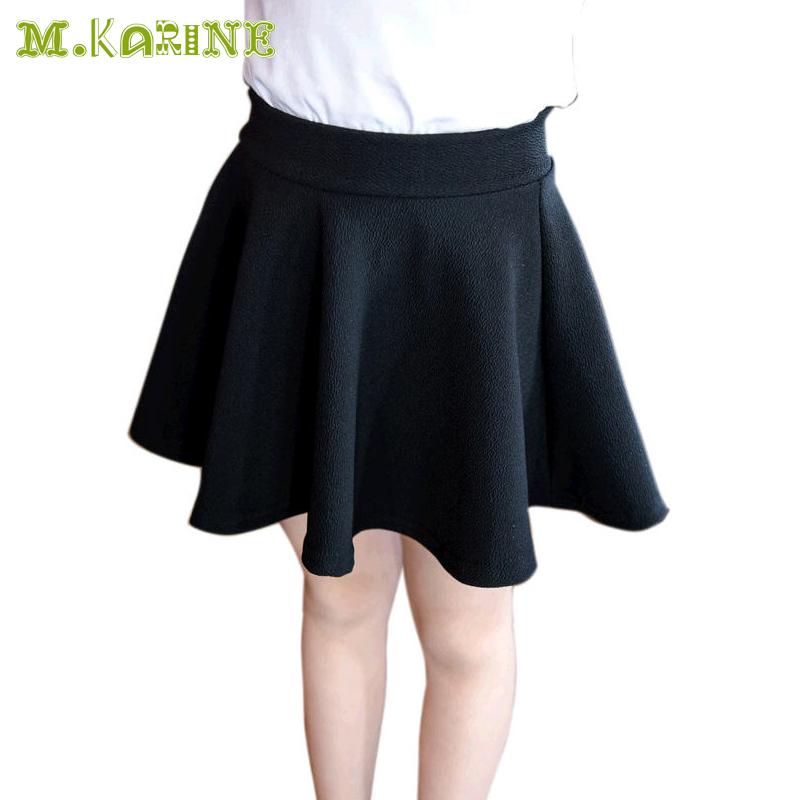 2017 New Fashion Girls Summer Solid Skirts Baby Children Tutu Skirts Elastic Waist Kids Bubble Skirt Casual Candy 4 Colors Skirt