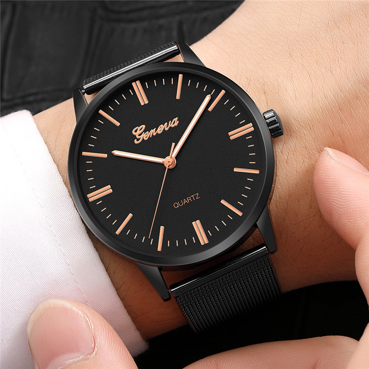 Man Watch 2018 Fashion Geneva Watch Stainless Steel Mens Watches Top Brand Luxury Watch Men Quartz Wrist Watch Montre Homme