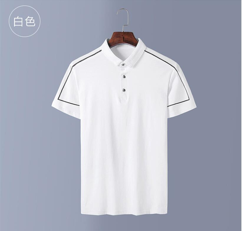 2019 New PM65696 Men   Polo   Shirt Casual Short Sleeve Male Cotton Shirt Print Slim Fit Camisa Shirt New Summer Male Clothes