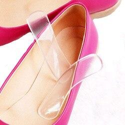 1 пара, женские модные силиконовые гелевые подушечки для защиты пятки, стельки на высоком каблуке 10 см * 2,2 см, Прямая поставка