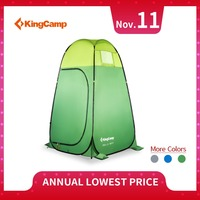 KingCamp Pop Up Toilet Shower Tent Changing Room Shelter Single Moving Folding Tents Beach Fishing Shower for Camping Outdoor