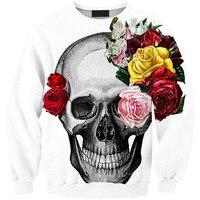 Harajuku 3D Print Evening Terror Skeleton Skull Head Sweatshirts Coat Men Women Fashion Hoodies Tracksuit Tops