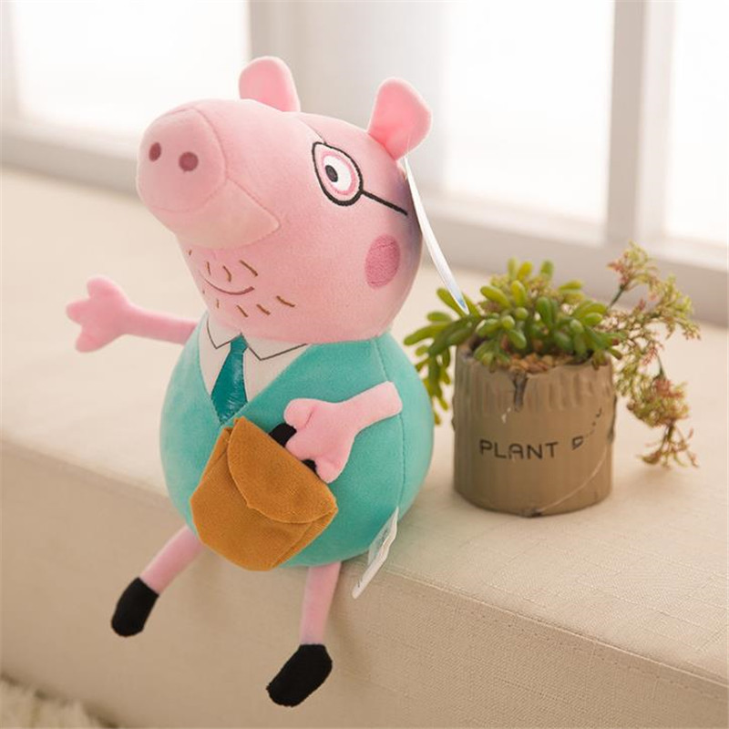 25 CM Anime Peppa Pig George Peppa Family Plush Toys Baby Pet Doll Soft Stuffed Toys Birthday Gifts For Children 1