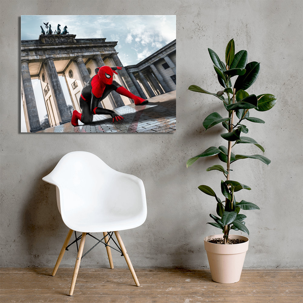 Spider-Man: Far From Home Movie Poster Spiderman Superhero Canvas Prints Iron Spider Man Wall Art Pictures Home Bedroom Decor