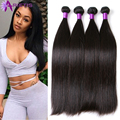 Brazilian Virgin Hair Straight 8A Unprocessed Virgin Hair Weft Cheap Brazilian Hair 4Bundles Human Hair Extensions Can Be Curled
