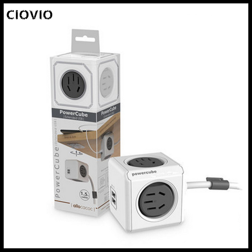Image 3 - CIOVIO with wire Smart Home Power Cube Socket  CIOVIO Adapter Power Strip Multi Switched Sockets-in Electrical Sockets from Home Improvement