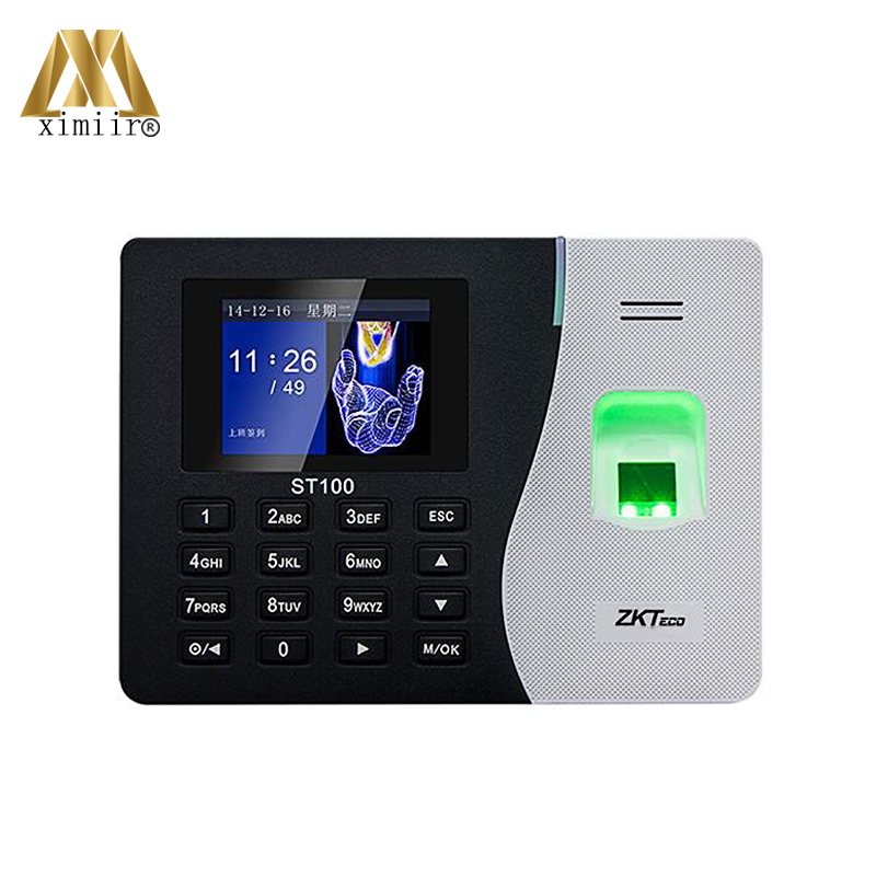 Cheap 2000 Users Biometric Fingerprint Time Attendance System TCP/IP USB Communication ST100 Card Time Clock